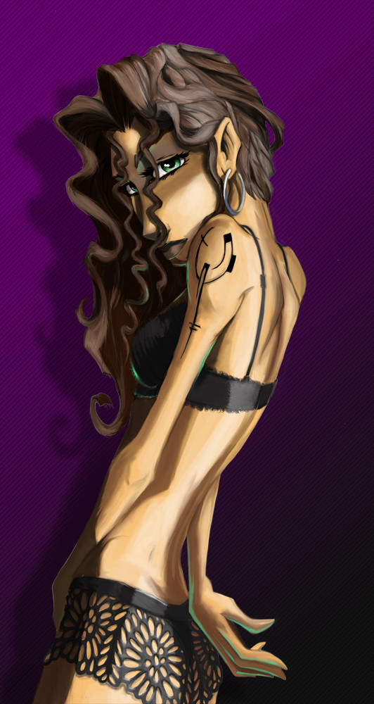 Crealab illustration Sexy girl