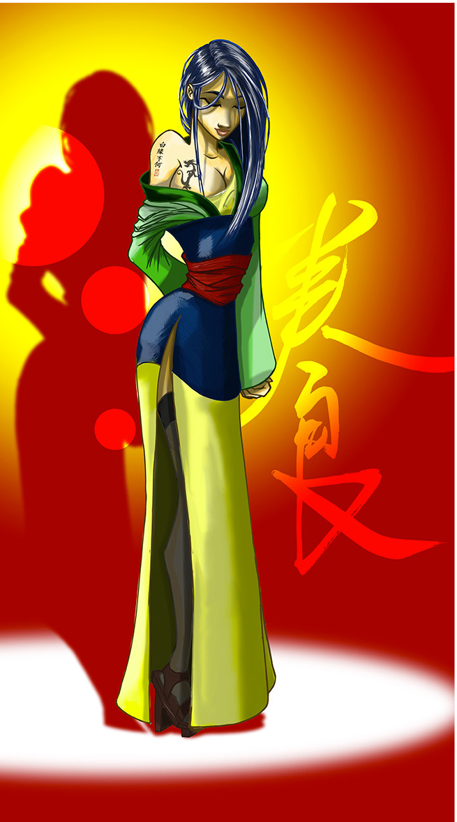 Crealab illustration Mulan