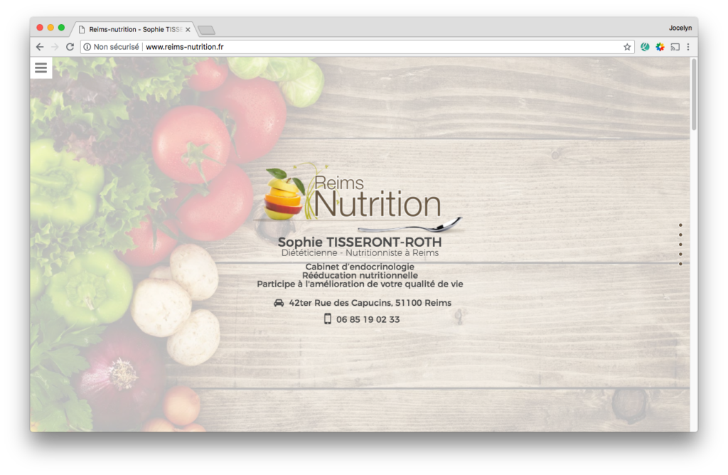 Site web Reims Nutrition